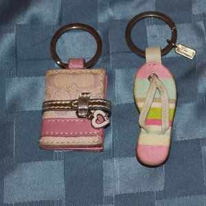 Coach mini photo holder keychain and Flip Flop